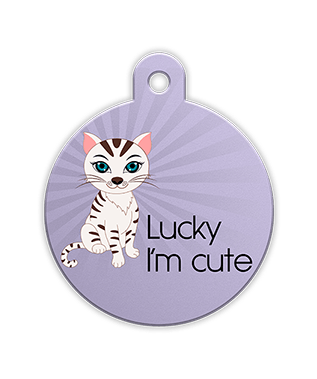 Petfetch Wink Emoji Pet Tag - Fun Pet Tags - Emoji Pet Tags - PetfetchID